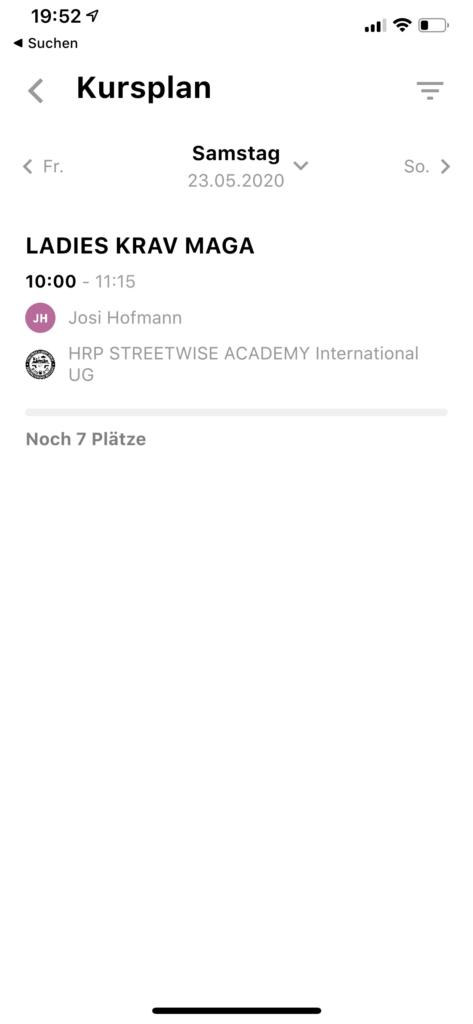 noexcuse app streetwise academy ladies Krav Maga